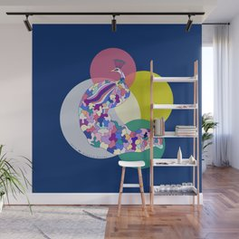 Peacock Illustration    Birdies Collection Wall Mural