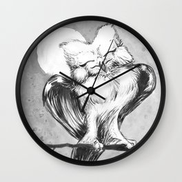 Happy Owl Wall Clock