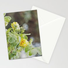 Rosa amarilla Stationery Cards