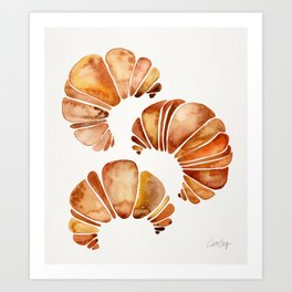 Croissant Collection Art Print
