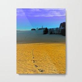 Colorful winter wonderland scenery   landscape photography Metal Print