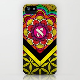 Sacred Geometry for your daily life - ALEPH KYBALION EYE iPhone Case