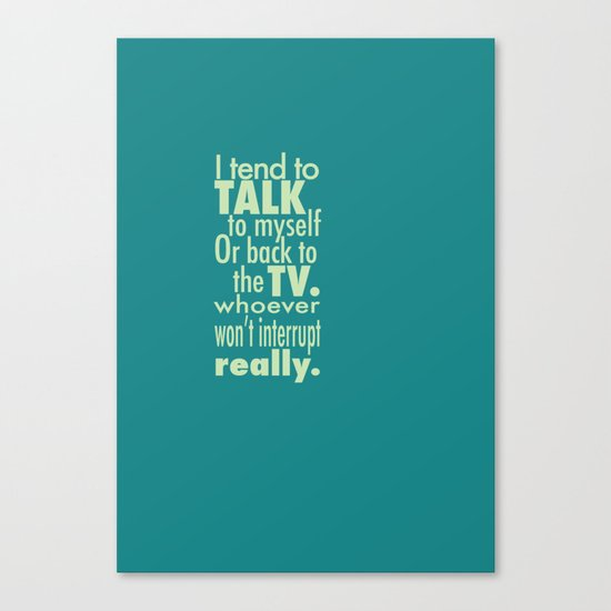 Talking to the TV Canvas Print