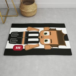 Super cute sports stars - Black and White Aussie Footy Rug
