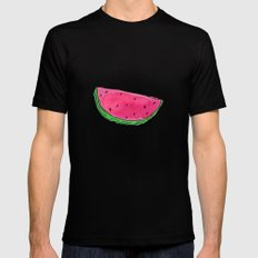 Watermelon Mens Fitted Tee LARGE Black