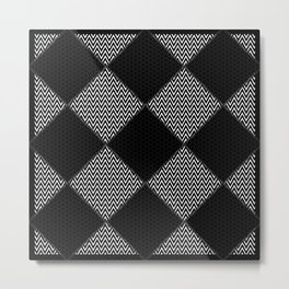 Black and White Patterns Metal Print