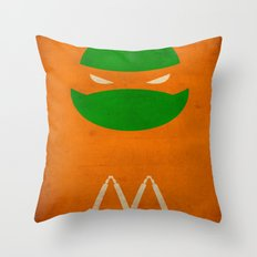 TMNT Mikey poster Throw Pillow