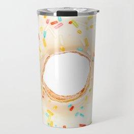 Overfill white chocolate doughnut Travel Mug