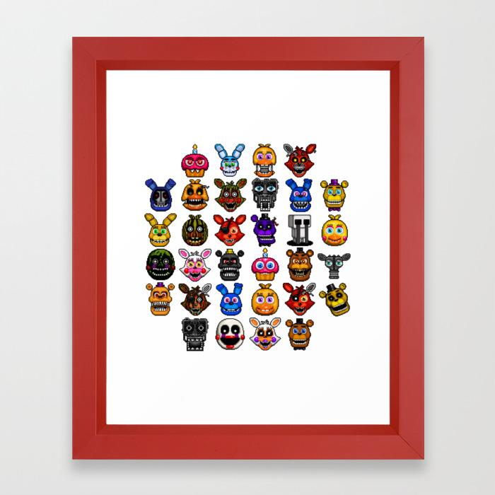 FNAF pixel art Framed Art Print by geeksomniac | Society6