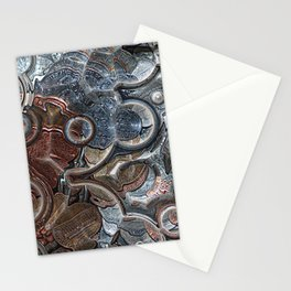 Abstract Coins Stationery Cards