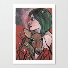 Deer Smoke Canvas Print