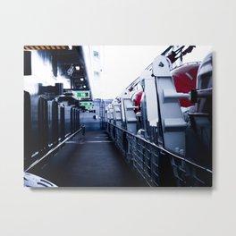 On A Ships Deck Metal Print