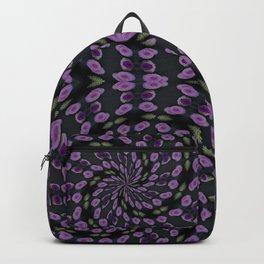 Purple Twirl Pattern Backpack
