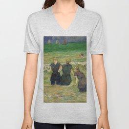 1885 - Gauguin - Women Bathing Unisex V-Neck