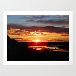 Ground Level Sunset Art Print
