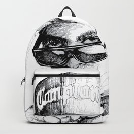 Digital Drawing #34 - Easy E in Black & White Backpack