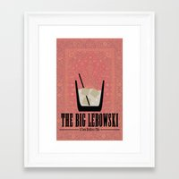 big lebowski Framed Art Prints featuring The Big Lebowski. by Ellie argueta