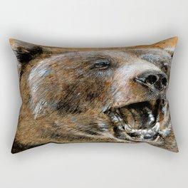 Grizzly bear Rectangular Pillow