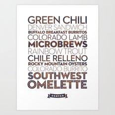 Denver — Delicious City Prints Art Print