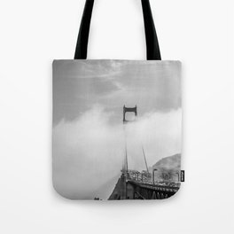 Taking it all in.  Tote Bag