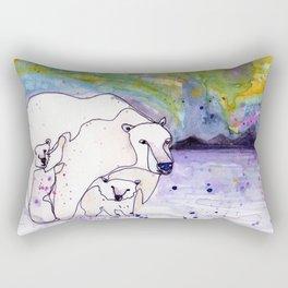 Polar Bear Mommy Rectangular Pillow