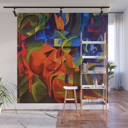 The Pigs by Franz Marc Wall Mural