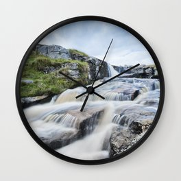 Waterfall on the East Dart River Wall Clock
