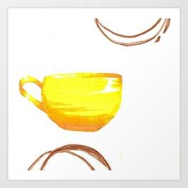 cafe yellow Art Print