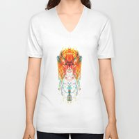 dream catcher V-neck T-shirts featuring Dream Catcher by Renaissance Youth