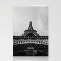 eiffel tower Stationery Cards featuring Eiffel Tower by Evan Morris Cohen