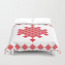 Red Diamond Duvet Cover