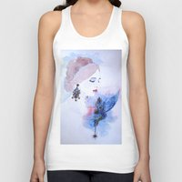 lady Tank Tops featuring Lady by S.Svetlankova