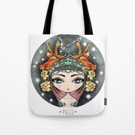 PISCES Zodiac Doll Tote Bag