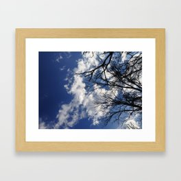 blue skys Framed Art Print