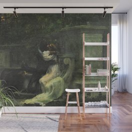 Classical masterpiece: The Kiss by Lionello Balestrieri Wall Mural