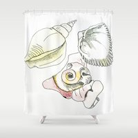 shells Shower Curtains featuring Shells by Bunyip Designs