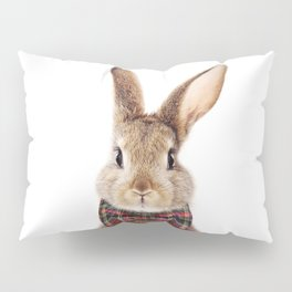 Bunny With Bow Tie, Baby Animals Art Print By Synplus Pillow Sham