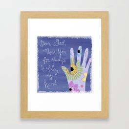 Thank you God (Hand art) Framed Art Print