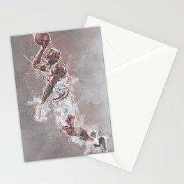 basketball player art Stationery Cards
