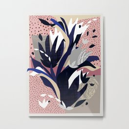 Shapes Nature Blue Pink Metal Print