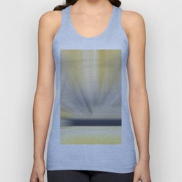 Charcoal Grey Yellow Abstract Unisex Tank Top