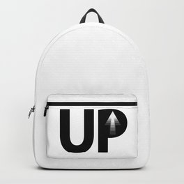 Up going up / One word creative typography design Backpack