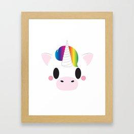 Unicorn Block Framed Art Print