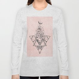 Roses in Moonlight Pink Long Sleeve T-shirt