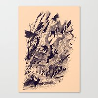 chaos Canvas Prints featuring Chaos by nicebleed