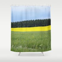 sweden Shower Curtains featuring Sweden by Anya Kubilus
