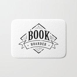 Book Hoarder Black Bath Mat
