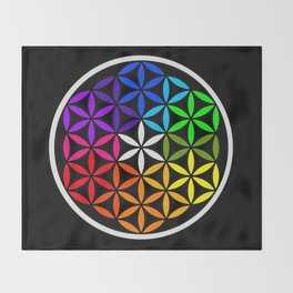 Secret flower of life Throw Blanket