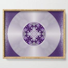 Vinyl Record Illusion in Purple Serving Tray