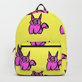 The Pink and Yellow Pussy Cat Parade Backpack